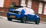 Honda e 2020 road test review - hero rear