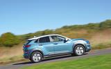 Hyundai Kona Electric 2018 road test review - hero side