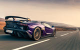 Lamborghini Aventador SVJ 2019 road test review - hero rear