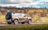 Land Rover Defender 2020 road test review - hero side