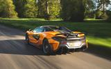 McLaren 600LT Spider 2019 road test review - hero rear