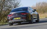 Mercedes-Benz CLS 400d 2018 review hero rear