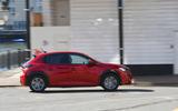 Peugeot e-208 2020 road test review - hero side