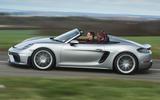 Porsche 718 Spyder 2020 road test review - hero side