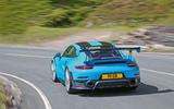 Porsche 911 GT2 RS 2018 road test review hero rear