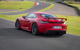Porsche 718 Cayman GT4 2019 road test review - hero rear