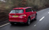 Skoda Kodiaq vRS 2019 road test review - hero rear