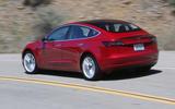 Tesla Model 3 2018 road test review hero rear