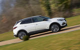 Vauxhall Grandland X Hybrid4 2020 road test review - hero side