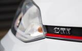 Volkswagen Up GTI 2018 review bonnet GTI badge