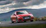 Audi A6 2019 road test review - cornering front