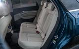 Audi E-tron 55 Quattro 2019 road test review - rear seats