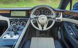 Bentley Continental GT 2018 Autocar road test review cabin
