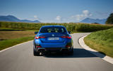 20 BMW i4 M50 2021 first drive review cornering rear