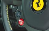 Ferrari 488 Pista 2019 road test review - start button