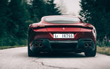 Ferrari Roma 2020 road test review - on the road rear