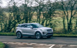 20 Land Rover Range Rover Evoque 2021 road test review on road front