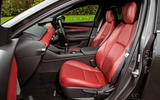 Mazda 3 Skyactiv-X 2019 road test review - front seats