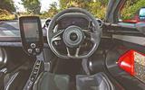 McLaren Senna 2018 road test review - dashboard