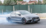 Mercedes-AMG CLA 45 S 2019 road test review - track front