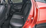 Nissan Juke 2020 road test review - rear seats