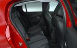 Peugeot e-208 2020 road test review - rear seats