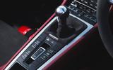 Porsche 718 Spyder 2020 road test review - gearstick
