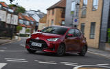 Toyota Yaris 2020 road test review - cornering front