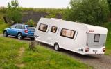 Skoda Octavia Scout towing caravan