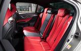 Lexus GS F rear seats