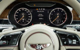 Bentley Continental GT 2018 Autocar road test review instrument cluster