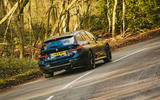 BMW 3 Series Touring 2020 road test review - cornering rear