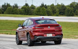 BMW X4 2018 road test review cornering rear