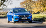 21 dacia sandero tce 90 2021 uk first drive review cornering front