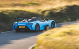 Dallara Stradale 2019 road test review - on the road rear