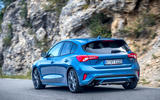 Ford Focus ST 2019 review - cornering rear