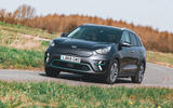 Kia e-Niro 2019 road test review - cornering front