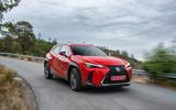 Lexus UX 2018 road test review - cornering