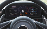 McLaren Senna 2018 road test review - instrument cluster