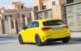 Mercedes-AMG A35 2018 review - on the road rear