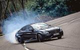 Mercedes-AMG C63 Coupé 2019 road test review - drift front