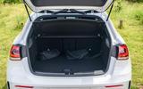 Mercedes-Benz A250e 2020 road test review - boot