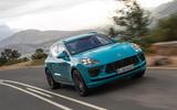 Porsche Macan Turbo 2019 road test review - cornering front