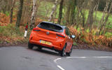 Vauxhall Corsa 2020 road test review - cornering rear