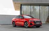 Audi E-tron Sportback 2020 road test review - static