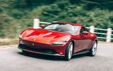 Ferrari Roma 2020 road test review - cornering front