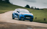 22 Ford Puma ST 2021 road test review cornering front