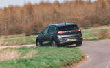 Kia e-Niro 2019 road test review - cornering rear