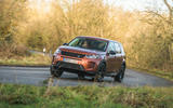 Land Rover Discovery Sport 2020 road test review - cornering front