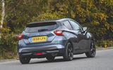 Nissan Micra N-Sport 2019 road test review - cornering rear